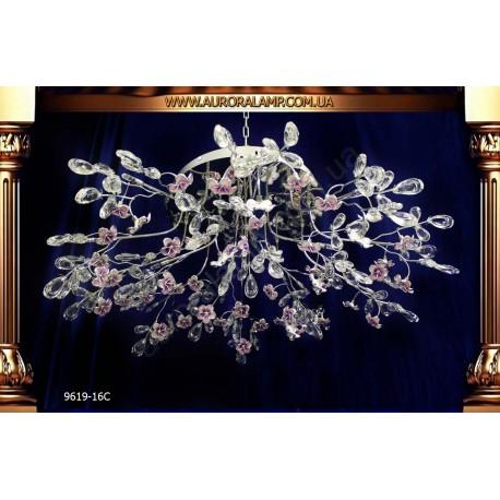Люстра потолочная 9619-16C. Свет люстры освещение оптом Одесса.