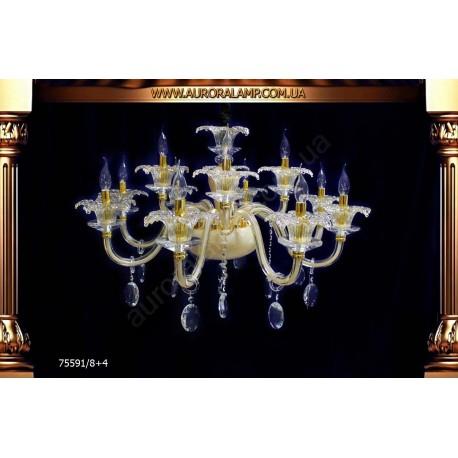 Люстра подвесная 75591-8+4. Свет люстры освещение оптом Одесса.