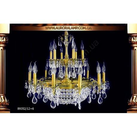 Люстра подвесная 89352-12+6. Свет люстры освещение оптом Одесса.