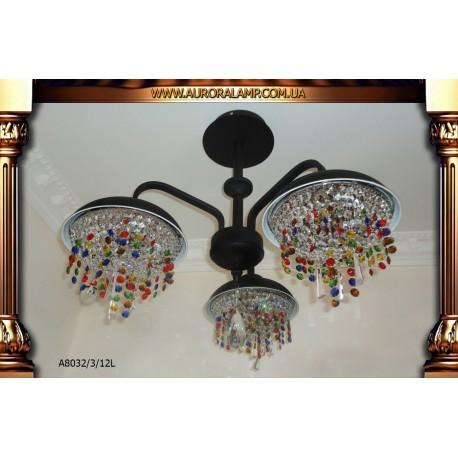 Люстра потолочная A8032-3-12L Люстры освещение оптом Одесса