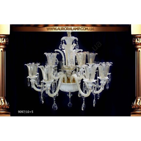 Люстра подвесная 9097-10+5. Свет люстры освещение оптом Одесса.