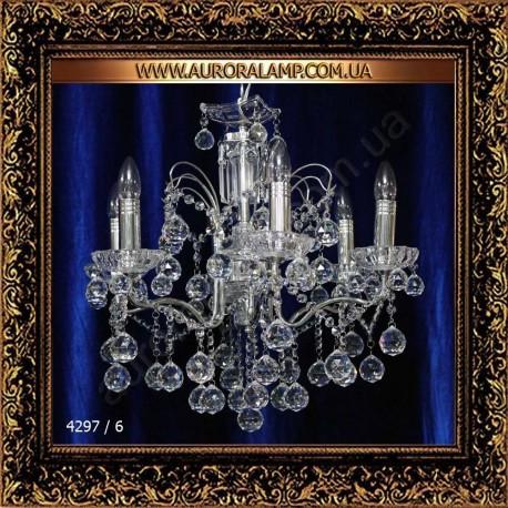 Люстра подвесная 4297/6. Свет люстры освещение оптом Одесса.