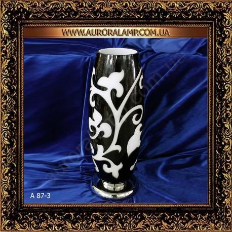 Лампа настольная ваза черно-белая A87-3 BK Купить вазу в Одессе.