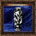 Настольная лампа ваза, черно-белая A87-3 BK Купить лампу вазу в Одессе.