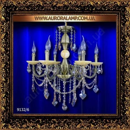 Люстра подвесная MD 9132/6 Br. Свет люстры освещение оптом Одесса.